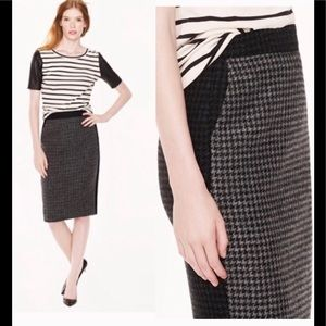 J- Crew | No. 2 Colorblock Houndstooth Wool Skirt